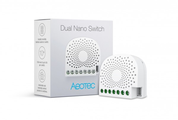 Aeotec Dual Nano Switch mit Energiemessfunktion