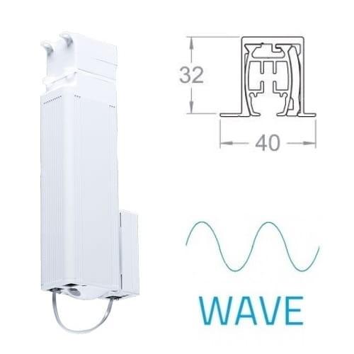 Mio Decor Elektrische verdeckte Vorhangschiene Shuttle L Plus – Wave