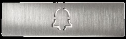 Abdeckung für eine Ruftaste einer DoorBird D21x Video Türstation