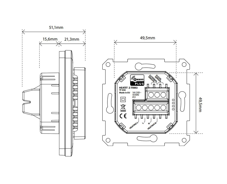 Heatit_Z-TRM3_Dimensions