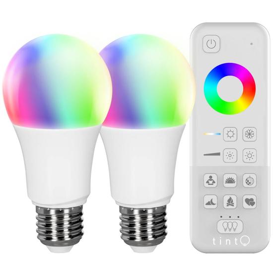 tint 2er-Set white+color LED Birnenform mit Fernbedienung